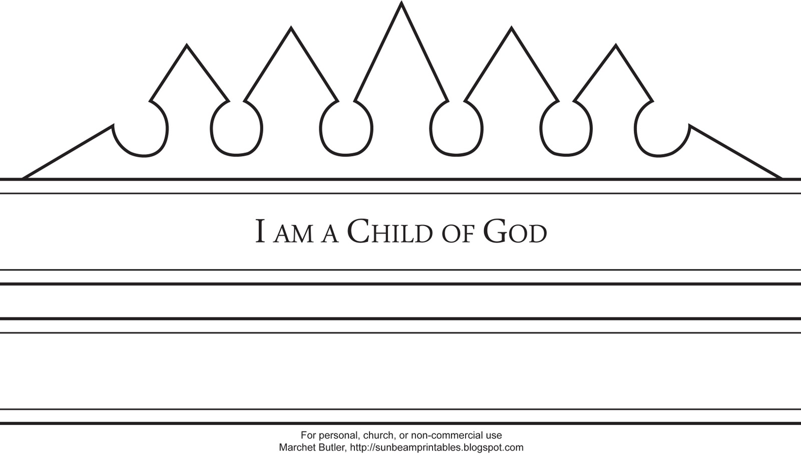 Child Of God Booklet Crown